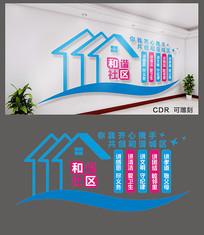 和谐社区党建展板设计