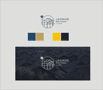 花建筑水滴logo
