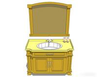 黄色欧式洗手台
