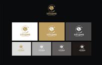 茉莉花水滴logo设计 CDR