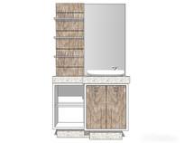 木色组合洗手台