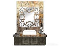 欧式大理石洗手台模型