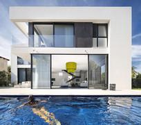 住宅前面的泳池 JPG