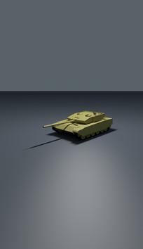 坦克造型模型