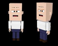 C4D像素人物模型
