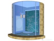 大型淋浴间模型
