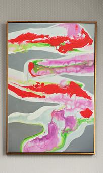 高清立体抽象油画装饰画
