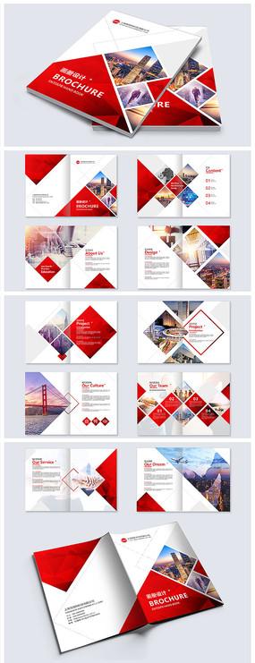 红色大气企业宣传画册设计