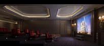 简约电影院3D模型