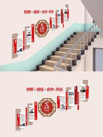 企业楼梯文化墙设计