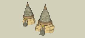 特色建筑SU模型