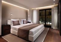 度假酒店大床房设计效果图 JPG