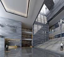 混凝土大理石博物馆3D模型