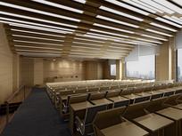 简约大会议室3D模型