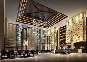 酒店全日制餐厅室内设计效果图