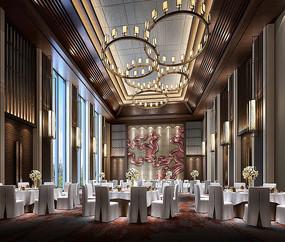 酒店宴会厅室内设计效果图