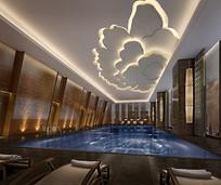 莲花元素泳池3D模型