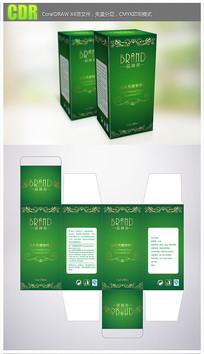 绿色时尚精油产品包装彩盒
