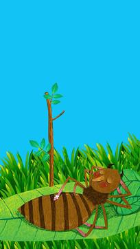 创意蚂蚁插画