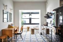 青年旅社复古厨房室内设计