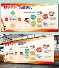 企业标语企业文化展板
