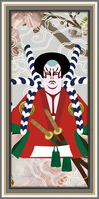 日式浮世绘客厅装饰画