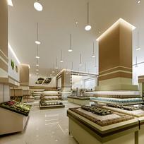 现代大型超市3D模型