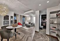 现代家庭客厅装修设计效果图