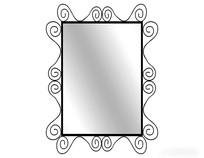 现代铁艺花纹镜子