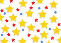 星星数码印花几何图