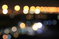 夜晚灯光散景背景图