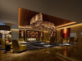 中式古典小餐厅3D模型
