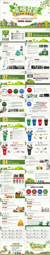 2019爱国卫生垃圾分类PPT