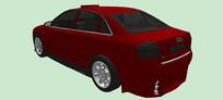 奥迪A4运动型轿车SU模型