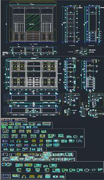 高端整木展厅设计CAD