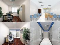 极简风格办公室设计模型