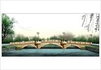 滨水景观桥效果图 JPG