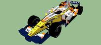 雷诺F1 5号赛车SU模型