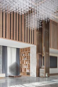 木材质的售楼处大厅