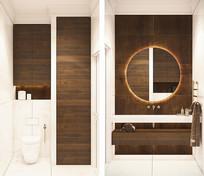 木制装饰的卫生间 JPG