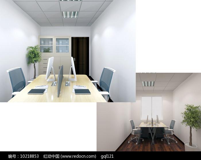 三层会计室3D模型素材图片