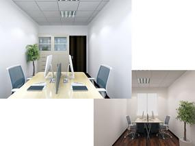 三层会计室3D模型素材