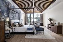 新中式别墅豪华卧室设计 JPG
