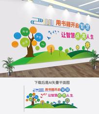阅读学校教室走廊校园文化墙