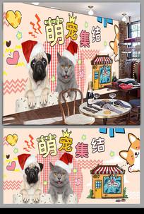 宠物猫猫狗狗俱乐部背景墙