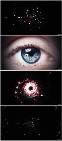 高科技眼睛眼球空间穿梭视频素材