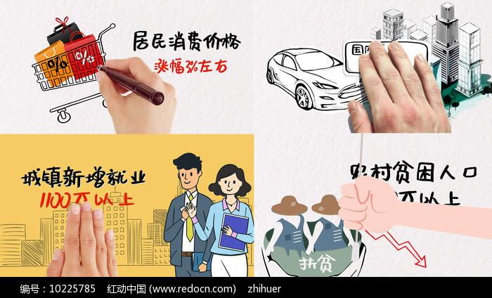 经济发展卡通MG动画AE模板图片