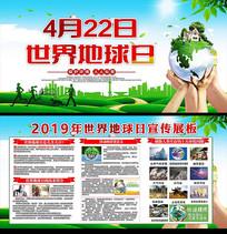 绿色世界地球日宣传展板