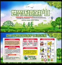 世界环境保护日展板