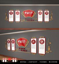 中国风文化墙中医文化墙